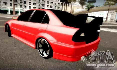 Mitsubishi Lancer Evolution 6 para GTA San Andreas vista hacia atrás