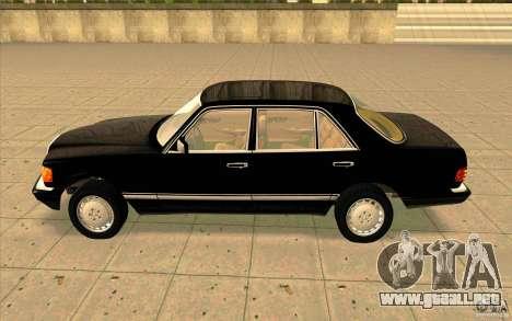 Mercedes Benz 560SEL w126 1990 v1.0 para GTA San Andreas left