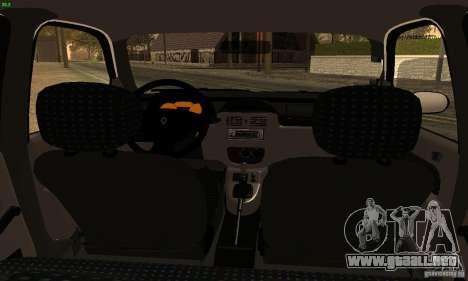 Renault Clio Sedan para GTA San Andreas vista posterior izquierda