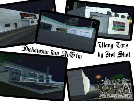 Nuevo salón del automóvil Wang Cars para GTA San Andreas