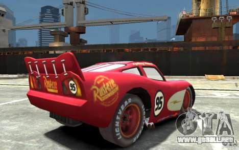 Lighting McQueen para GTA 4 visión correcta