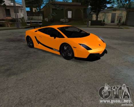 Lamborghini Gallardo LP570 Superleggera para GTA San Andreas left