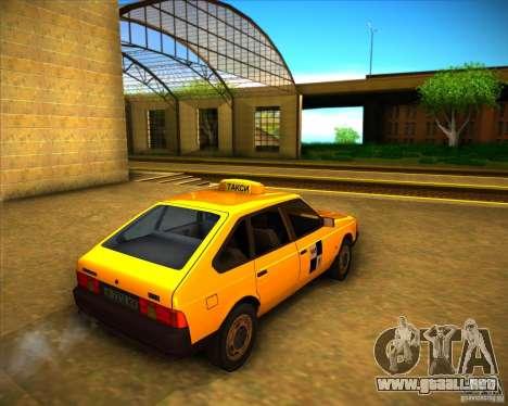 Taxi AZLK 2141 para la visión correcta GTA San Andreas