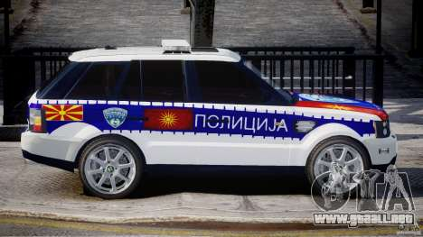 Range Rover Macedonian Police [ELS] para GTA 4 vista lateral