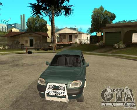 NIVA Chevrolet para GTA San Andreas vista hacia atrás