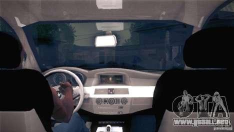 BMW M5 para vista inferior GTA San Andreas