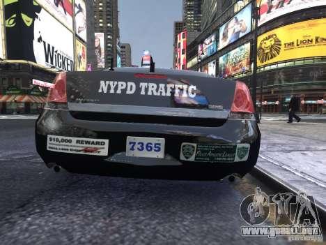 Chevrolet Impala 2006 NYPD Traffic para GTA 4 visión correcta