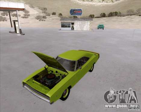 Dodge Charger RT 440 1968 para GTA San Andreas vista hacia atrás