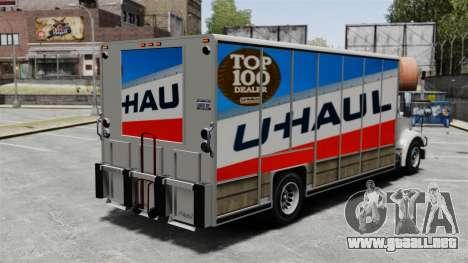 U-Haul camiones para GTA 4 segundos de pantalla