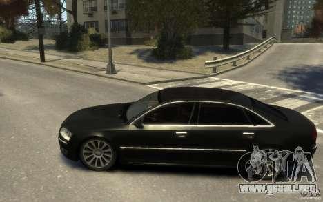 Audi A8 L 6.0 Quattro (Transporter 3) para GTA 4 visión correcta