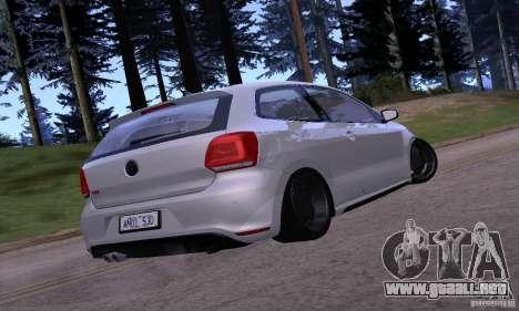 Volkswagen Polo GTI Stanced para la visión correcta GTA San Andreas