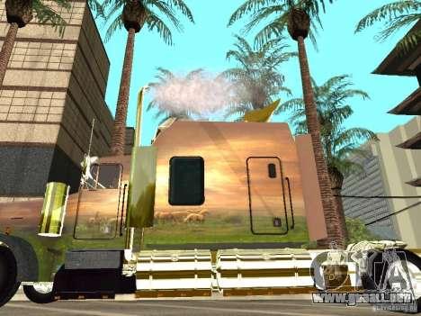 Kenworth W900 para GTA San Andreas vista posterior izquierda
