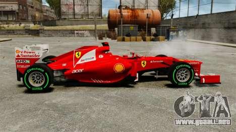 Ferrari F2012 para GTA 4 left