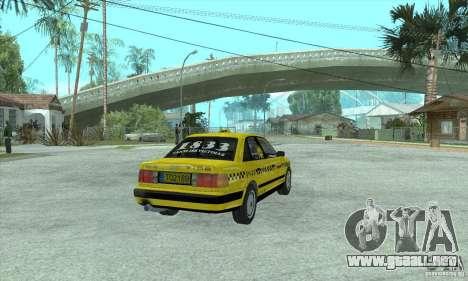 Audi 100 C4 (Taxi) para GTA San Andreas vista posterior izquierda