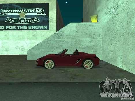 Porsche Boxster para GTA San Andreas left