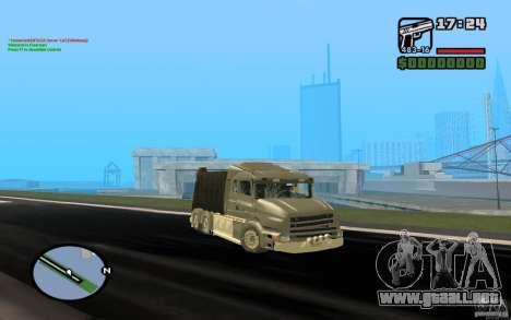 Camión Scania T164 para GTA San Andreas left