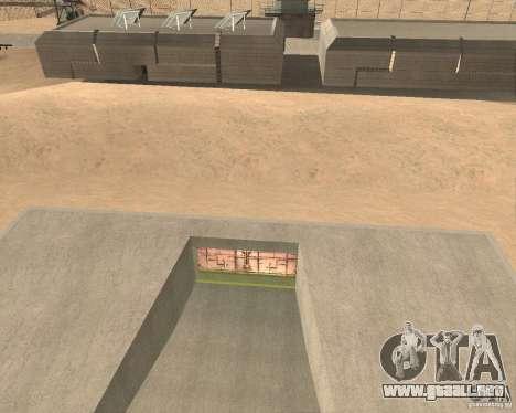 Compuerta neumática en área 69 para GTA San Andreas segunda pantalla