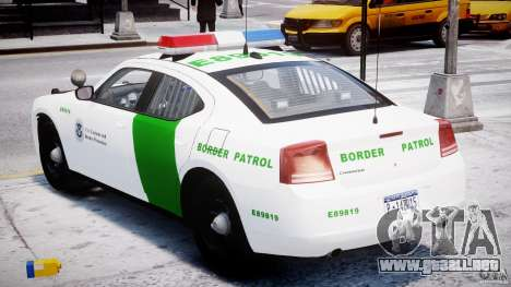 Dodge Charger US Border Patrol CHGR-V2.1M [ELS] para GTA 4 vista lateral