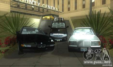 Mercedes-Benz 200D [W124] (1985) para la vista superior GTA San Andreas
