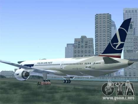 Boeing 787-9 LOT Polish Airlines para las ruedas de GTA San Andreas