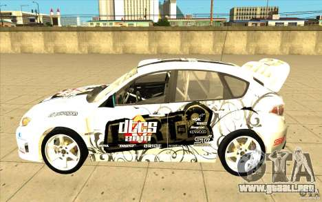Subaru Impreza WRX STi con el único nuevo vinilo para el motor de GTA San Andreas