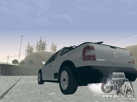 Volkswagen Saveiro 1.6 2009 para GTA San Andreas vista hacia atrás