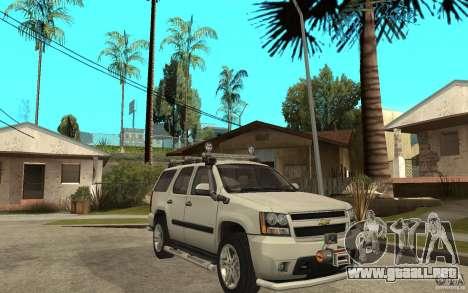 Chevrolet Tahoe para GTA San Andreas vista posterior izquierda