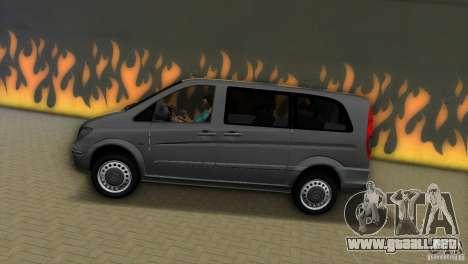 Mercedes-Benz Vito 2007 para GTA Vice City visión correcta