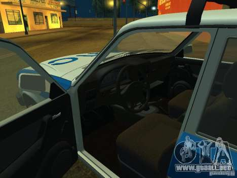 GAZ 3110 policía para GTA San Andreas vista hacia atrás