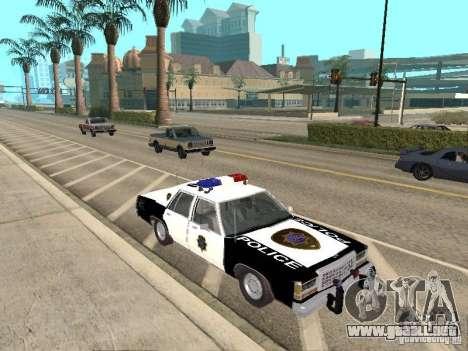 Ford LTD Crown Victoria Interceptor LAPD 1985 para GTA San Andreas vista hacia atrás