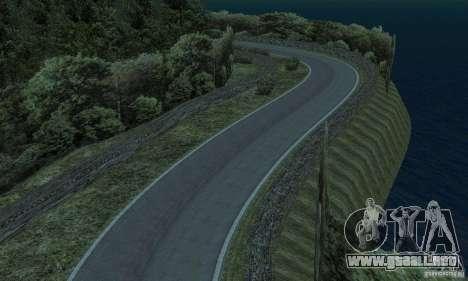 La ruta del rally para GTA San Andreas sexta pantalla