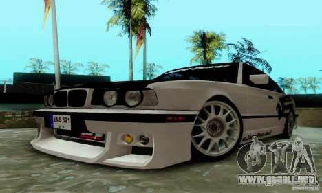 BMW E34 540i Tunable para visión interna GTA San Andreas