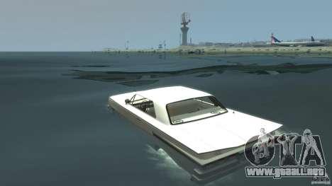 Voodoo Boat para GTA 4 Vista posterior izquierda