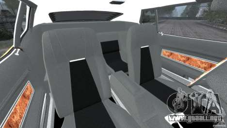 Ford Mustang Mach 1 1973 para GTA 4 vista interior