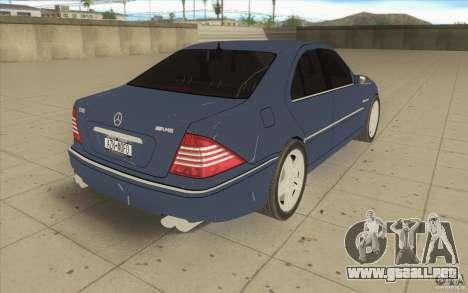 Mercedes-Benz S-Klasse para vista lateral GTA San Andreas