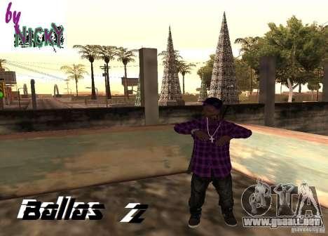 Pak pieles Ballas para GTA San Andreas segunda pantalla
