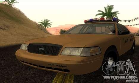 Ford Crown Victoria Kansas Police para GTA San Andreas