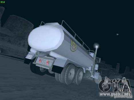 Kenworth Petrol Tanker para GTA San Andreas vista posterior izquierda