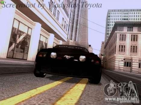 Ford Mustang GT 2011 Unmarked para GTA San Andreas vista hacia atrás