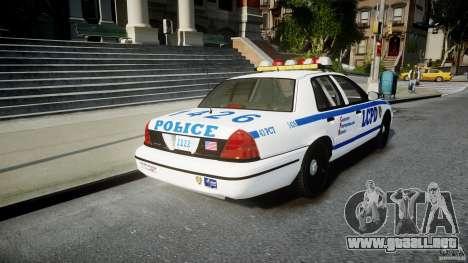 Ford Crown Victoria CVPI-V2.5V para GTA 4 Vista posterior izquierda