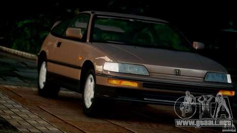 Honda CR-X SiR 1991 para GTA 4 vista hacia atrás