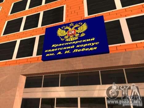 Cuerpo de cadetes de Krasnoyarsk para GTA San Andreas segunda pantalla