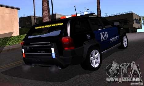 NFS Undercover Police SUV para vista lateral GTA San Andreas