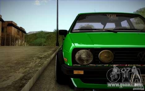 VW Golf MK2 Stanced para la vista superior GTA San Andreas