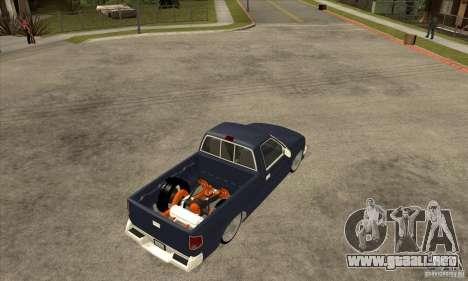 Chevrolet S-10 1996 Draggin para la visión correcta GTA San Andreas