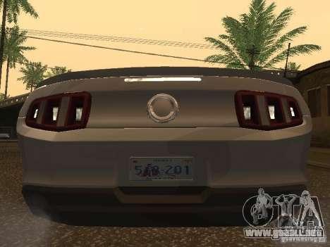 Ford Mustang 2011 GT para la visión correcta GTA San Andreas