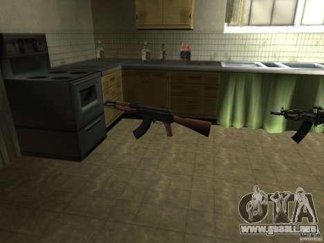 Armas nacionales Pak para GTA San Andreas segunda pantalla