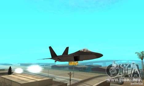 F-22 Black para vista lateral GTA San Andreas