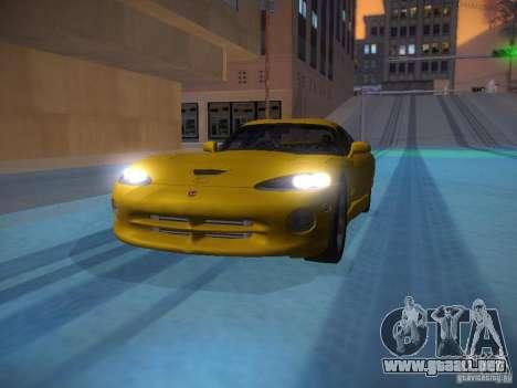 Dodge Viper 1996 para GTA San Andreas interior
