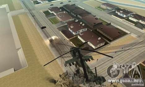 Black Ops Hind para GTA San Andreas vista hacia atrás